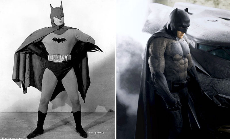 Batman from 1943 and 2016