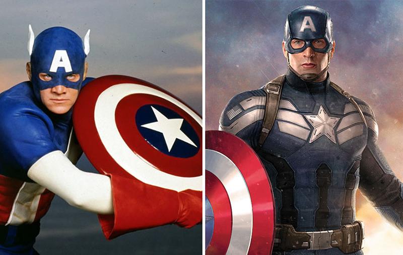 Captain America – 1990 vs. 2016