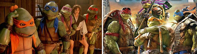 Teenage Mutant Ninja Turtles from 1993 and 2016
