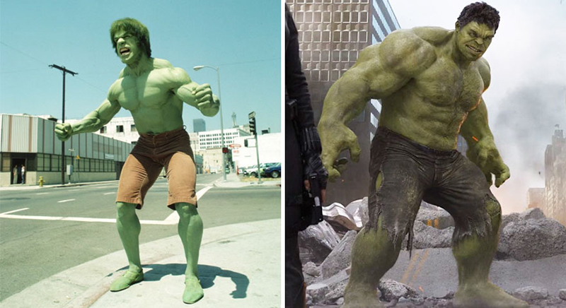 The Hulk – 1978 vs. 2012