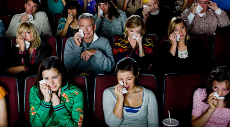 Audience crying in movie theater