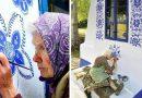 90χρονη Τσέχα γιαγιά μετατρέπει χωριό σε έργο τέχνης ζωγραφίζοντας παντού λουλούδια!